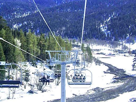 Архыз, горнолыжный курорт Романтик фото канатной дороги зимой