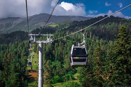 Архыз, горнолыжный курорт Романтик фото канатной дороги летом