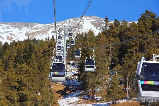 Архыз, горнолыжный курорт Романтик фото  канатной  дороги