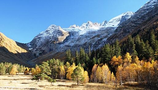 Фото Архыза  осенью.