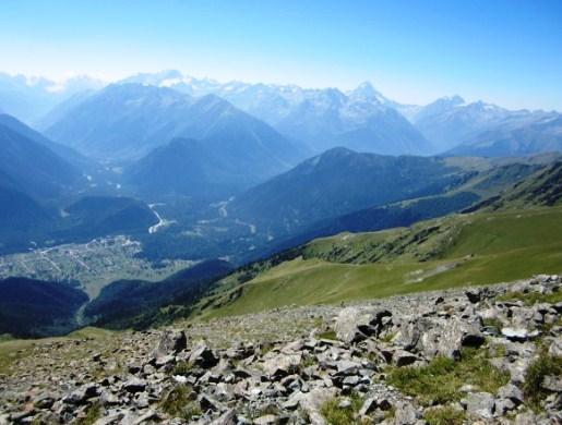 Горы Архыза вершина хребта  Абишира-Ахуба  Джумаруклы-Тёбе, 3182 м