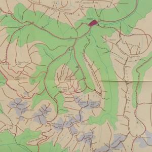 Туристская карта Архыза с указанием гор, перевалов и высот